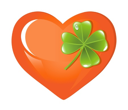 St. Patrick's Days Heart and sheets clover Stock Vector - 12003651