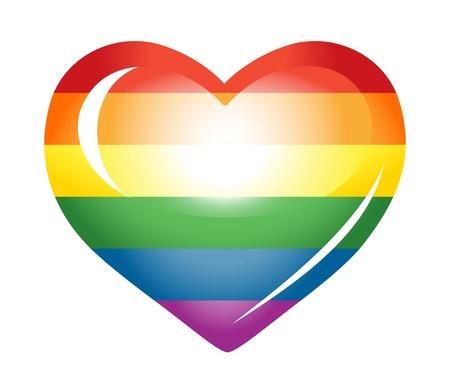 Rainbow heart. Stock Vector - 12031053
