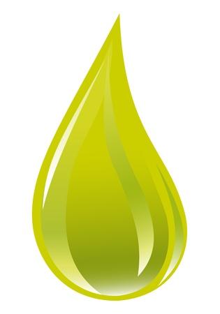 Goldener Öltropfen Standard-Bild - 12061205