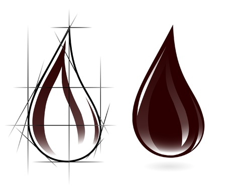 bio fuel: Sketch of oil drop