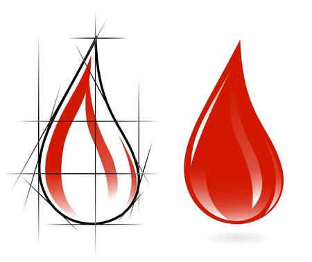 Sketch of blood drop Stock Vector - 12061220