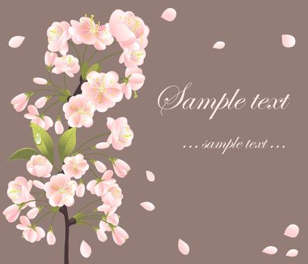 Background with sakura tree Illustration