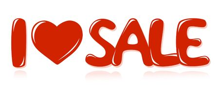 Message I love sale Vector