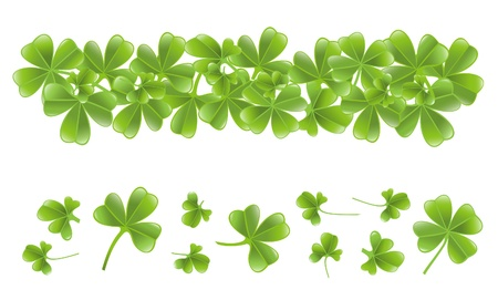 Clover leafs banner Stock Vector - 12300892