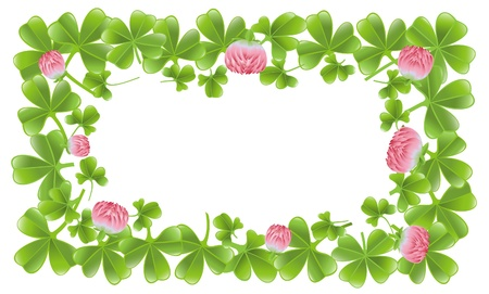 red clover: Clover leafs frame