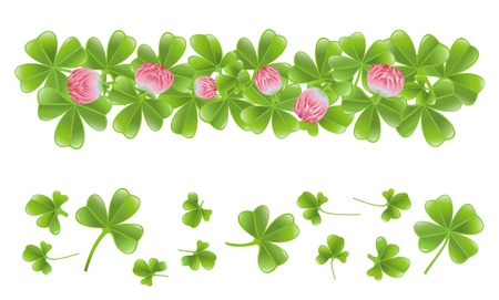Clover leafs banner Vector