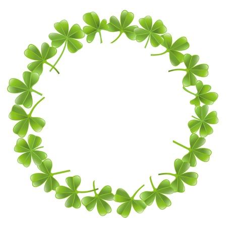 Clover leafs frame Vector