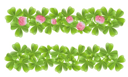 Two clover leafs banners Vector