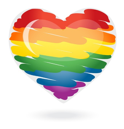 Rainbow heart Stock Vector - 12298511