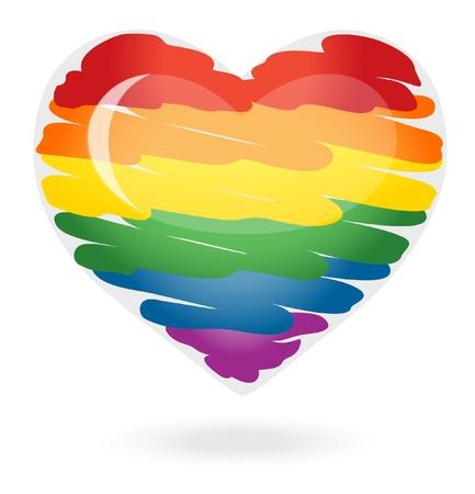 Rainbow serce Ilustracja