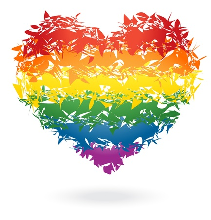 Rainbow heart Stock Vector - 12298491