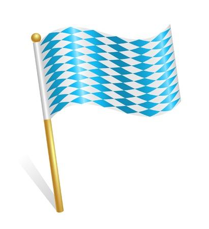 Bavaria flag icon Stock Vector - 12928353