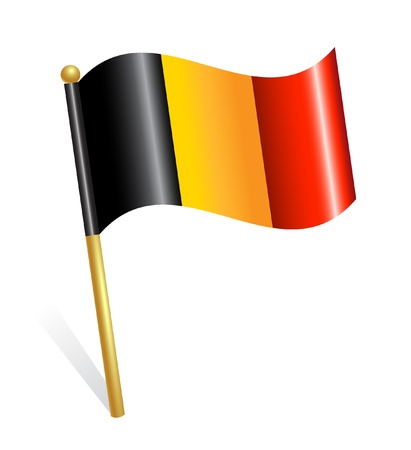 Belgium Country flag Stock Vector - 12928451
