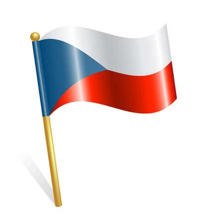 flagstaff: Czech Country flag Illustration