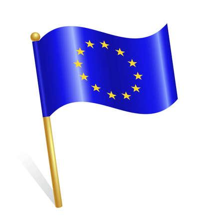 European Union EU flag Stock Vector - 12928439