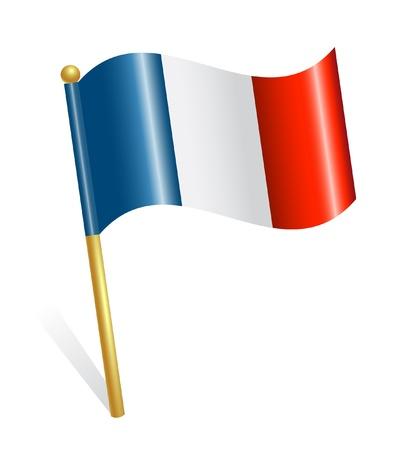 Kraj Francja flag Ilustracja
