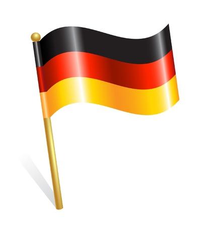 bandera alemania: Pa�s Alemania flag Vectores