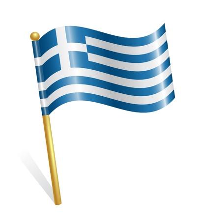 Greece Country flag Stock Vector - 12928394