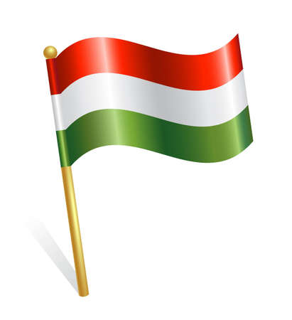 Hungary Country flag Stock Vector - 12928390