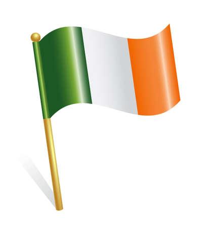 irish pride: Ireland Country flag Illustration