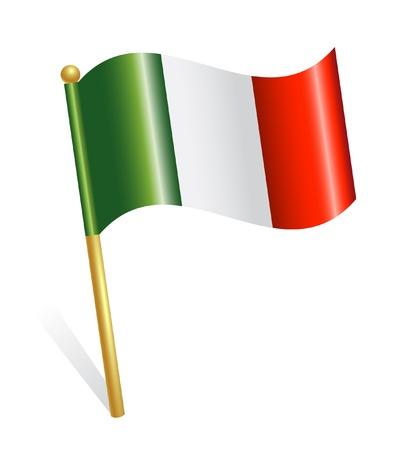 flaga włoch: Flag Kraj Włochy Ilustracja