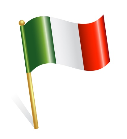 flag pole: Italy Country flag Illustration
