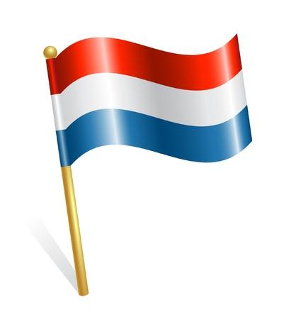 Países Bajos bandera del país Ilustración de vector