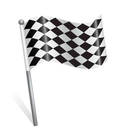 Rally flag icon Stock Vector - 12928387