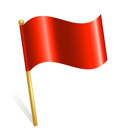 new start: Red flag icon