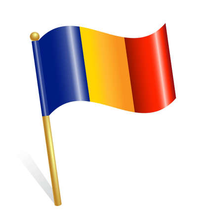 romania flag: Romania Country flag Illustration