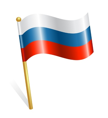 russia flag: Russia Country Flag Illustration