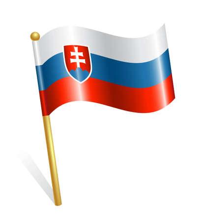 slovakia flag: Slovakia Country flag Illustration