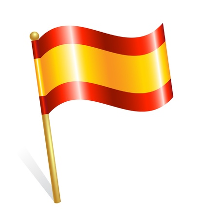 Spain Country flag Stock Vector - 12928393