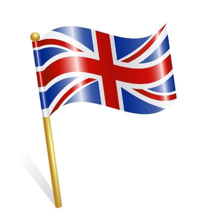 Land Britse vlag Vector Illustratie