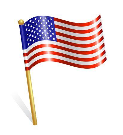 us flag: USA flag