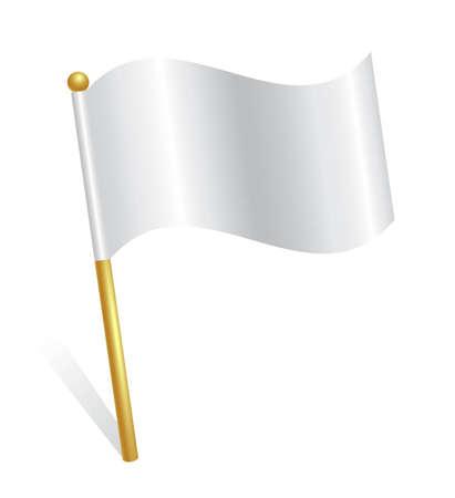surrender: White flag icon Illustration