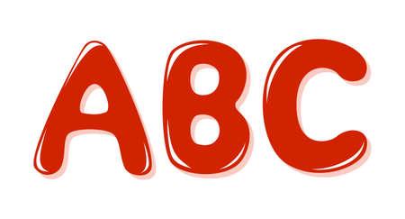 Las letras del alfabeto