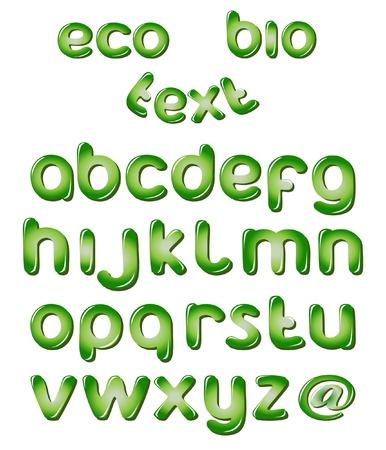 Alphabet Buchstaben In Grünen Farben Lizenzfrei Nutzbare ...