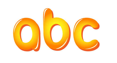 Alphabet letters in sun colors Vector