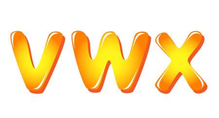 Alphabet letters in sun colors Vector