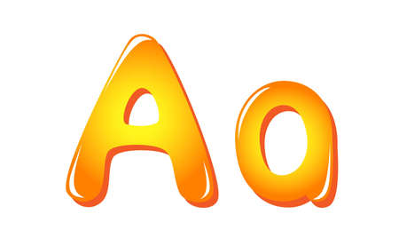 Alphabet letters in sun colors A Vector