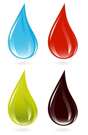 Set of drops Vector