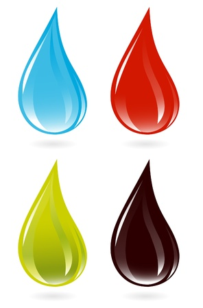 clean blood: Set of drops