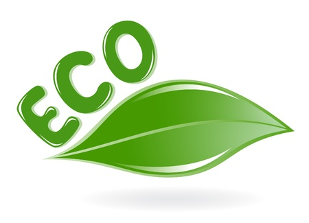 Leaf eco, green icon Stock Vector - 12928421