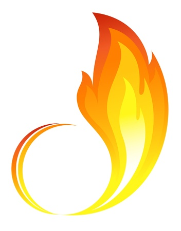 Abstract fire flames icon Vector