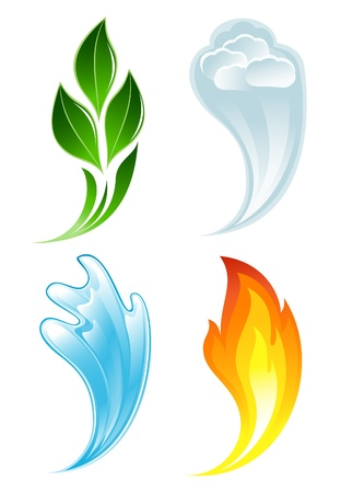 The four elements of life Stock Vector - 12928303