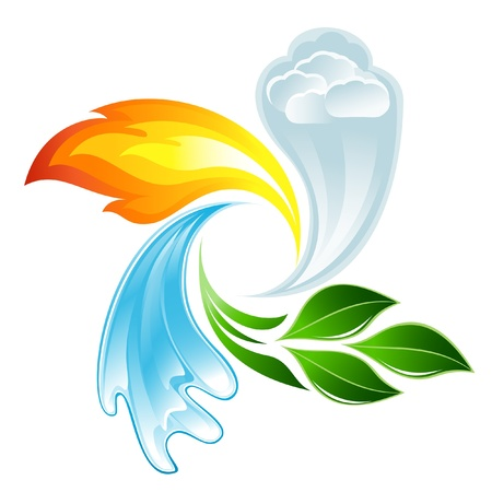 The four elements of life Illustration