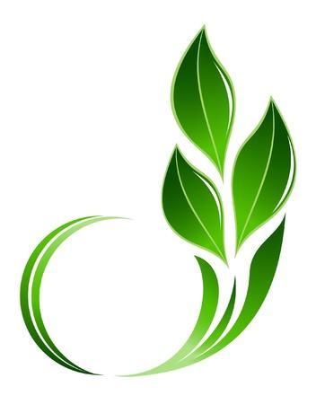 초록 잎 아이콘 일러스트