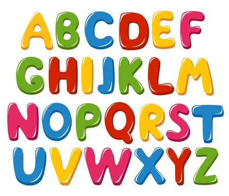 font alphabet: Alphabet letters