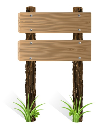 textur: Blank wooden sign board with grass